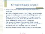 revenue enhancing synergies