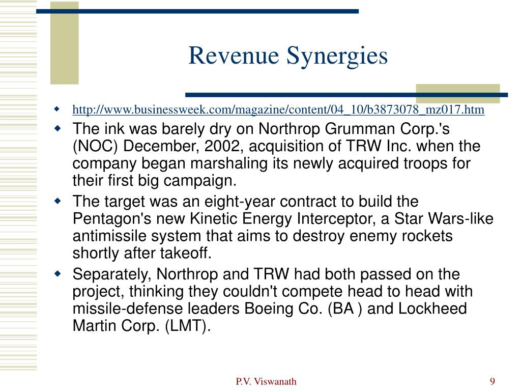 Revenue Synergies