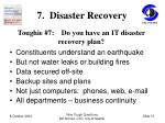 7 disaster recovery