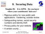 8 securing data