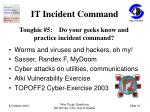 it incident command