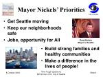 mayor nickels priorities
