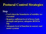 postural control strategies10