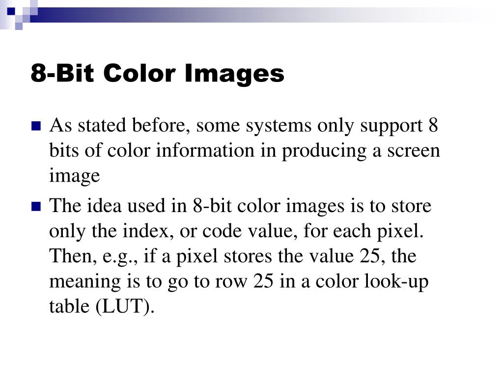 8-Bit Color Images