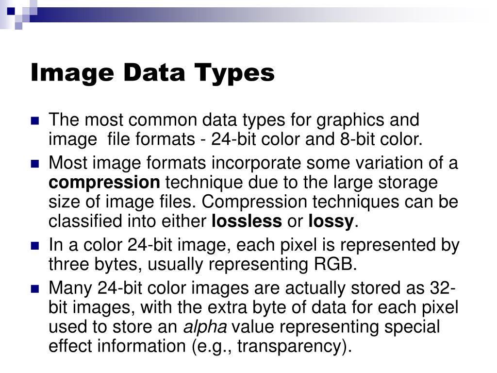 Image Data Types