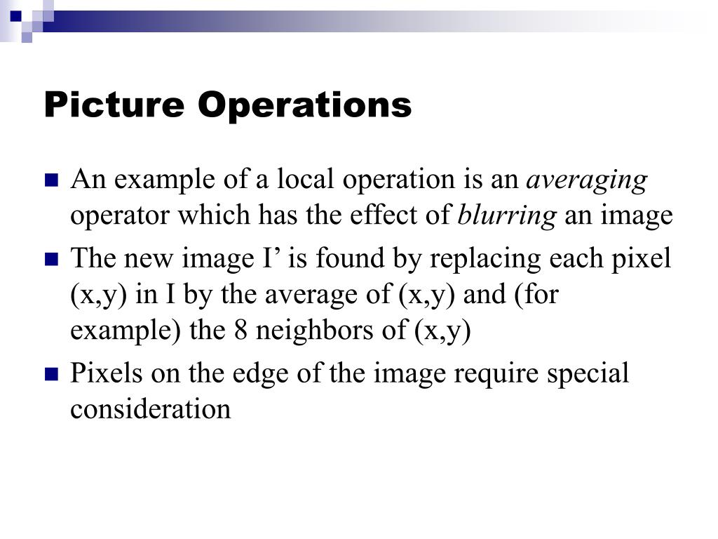 Picture Operations