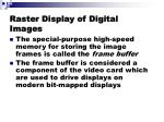 raster display of digital images
