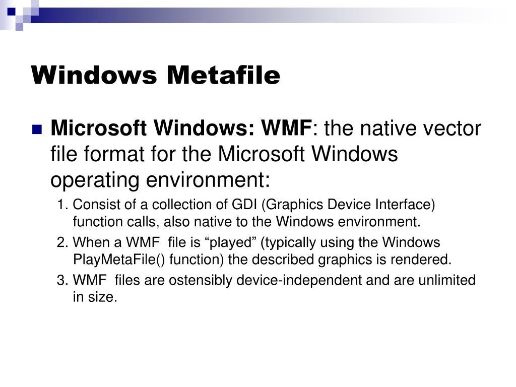Windows Metafile