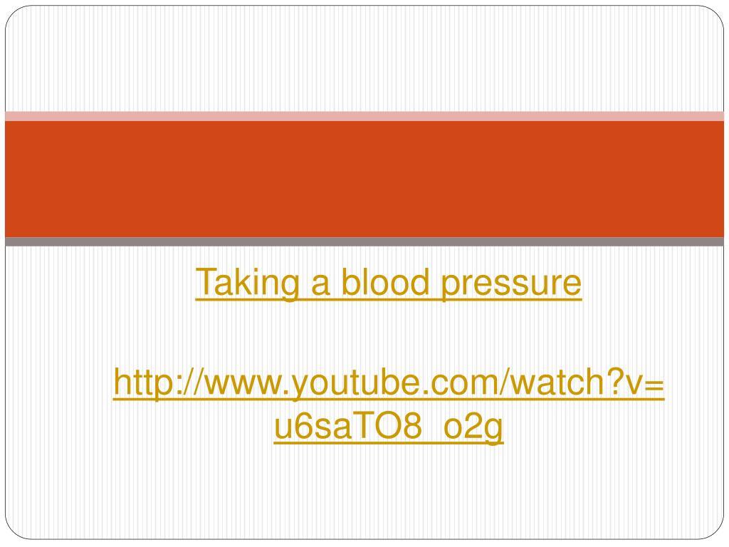 Taking a blood pressure