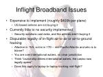 inflight broadband issues