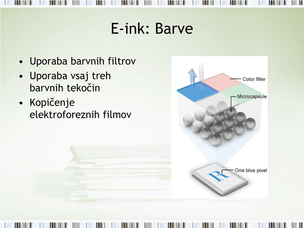 E-ink: Barve