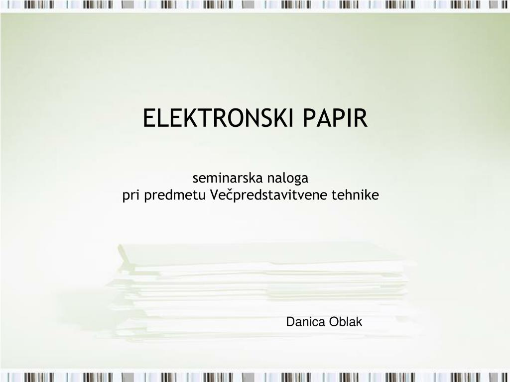 ELEKTRONSKI PAPIR