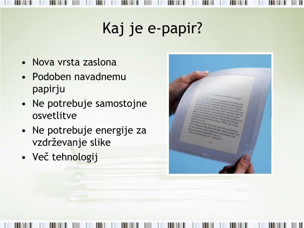 Kaj je e-papir?
