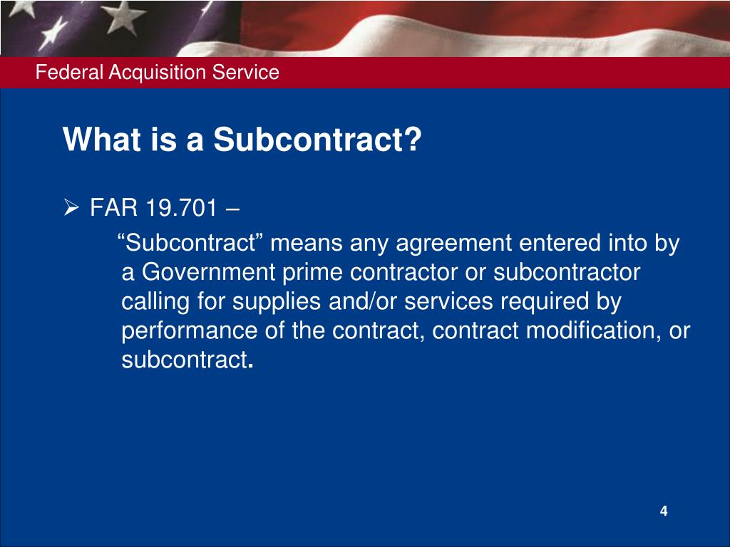 What is a Subcontract?