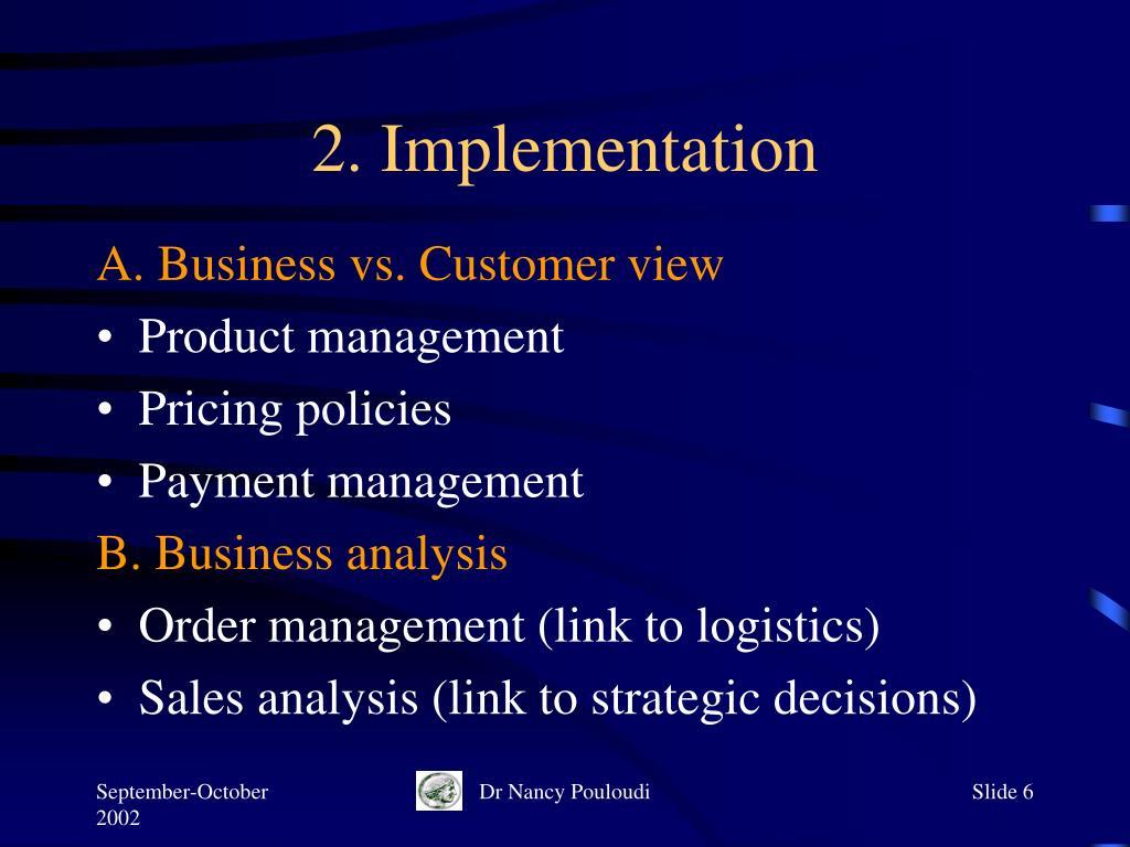 2. Implementation