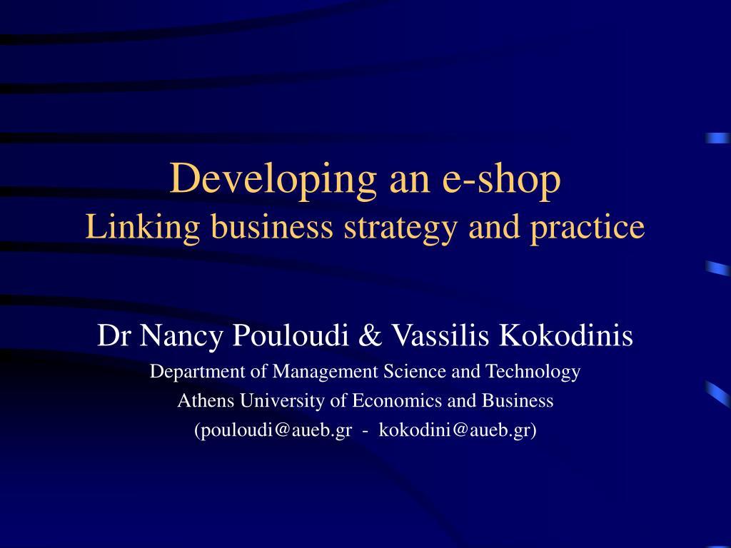Developing an e-shop