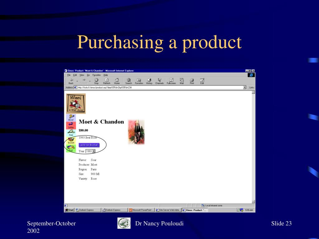 Purchasing a product