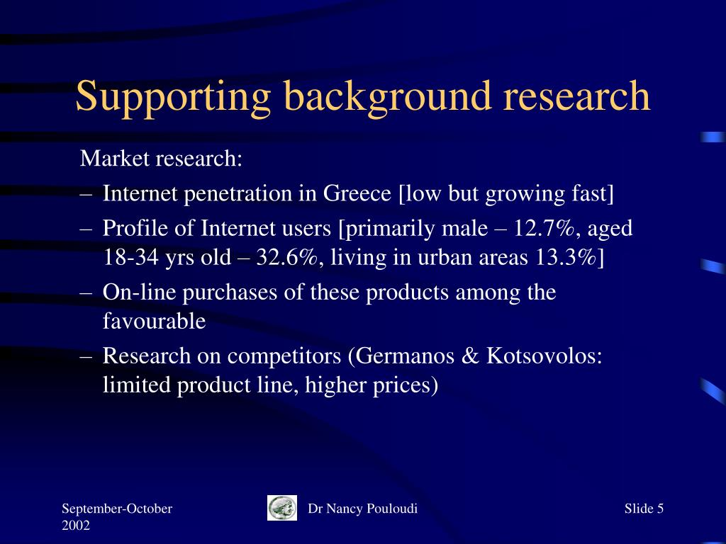 Supporting background research