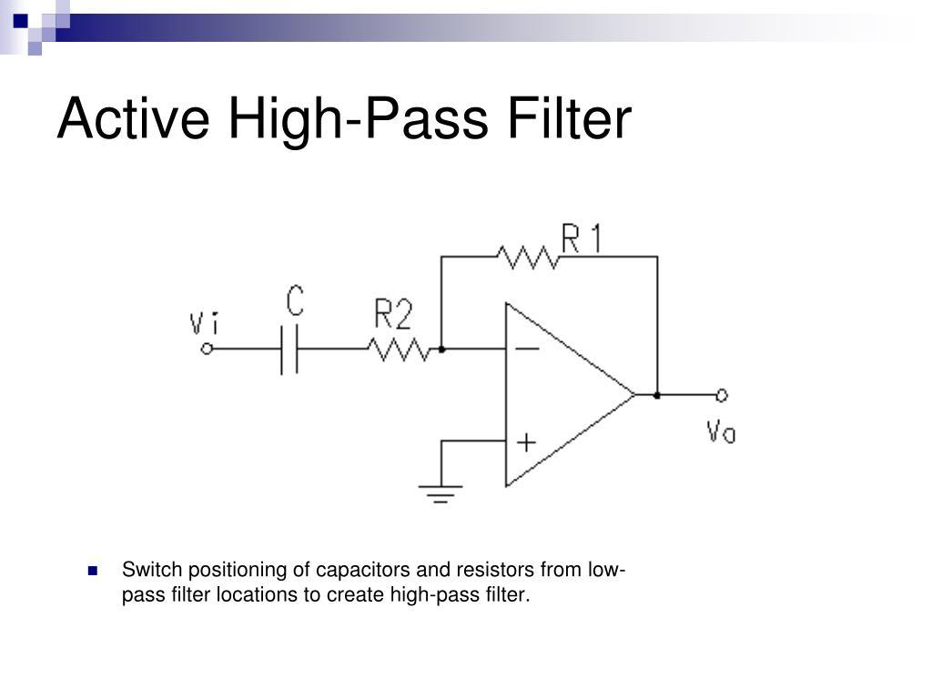 Active High-Pass Filter