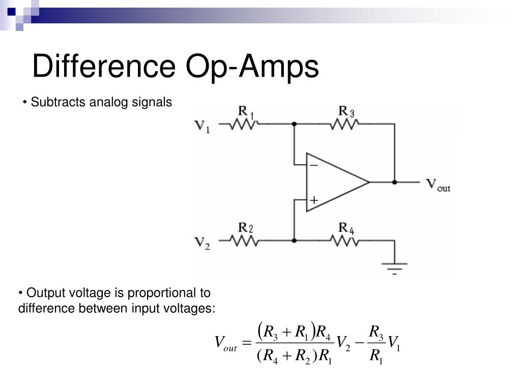 Difference Op-Amps