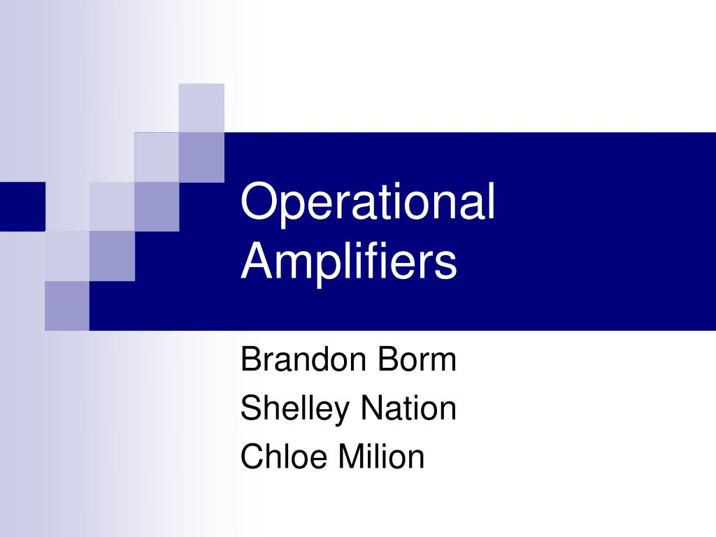 operational amplifiers l.