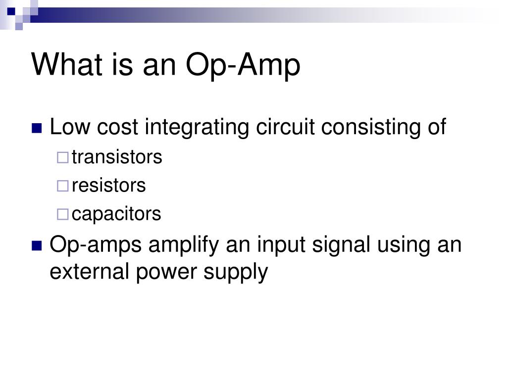 What is an Op-Amp