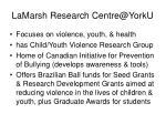 lamarsh research centre@yorku