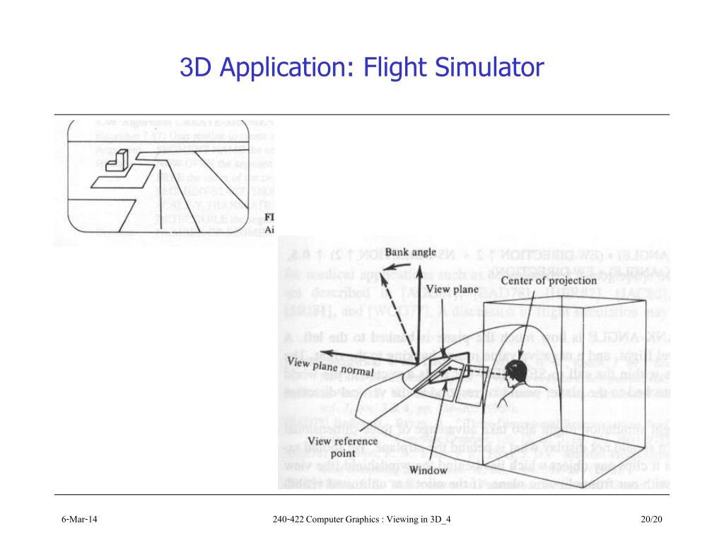 3D Application: Flight Simulator