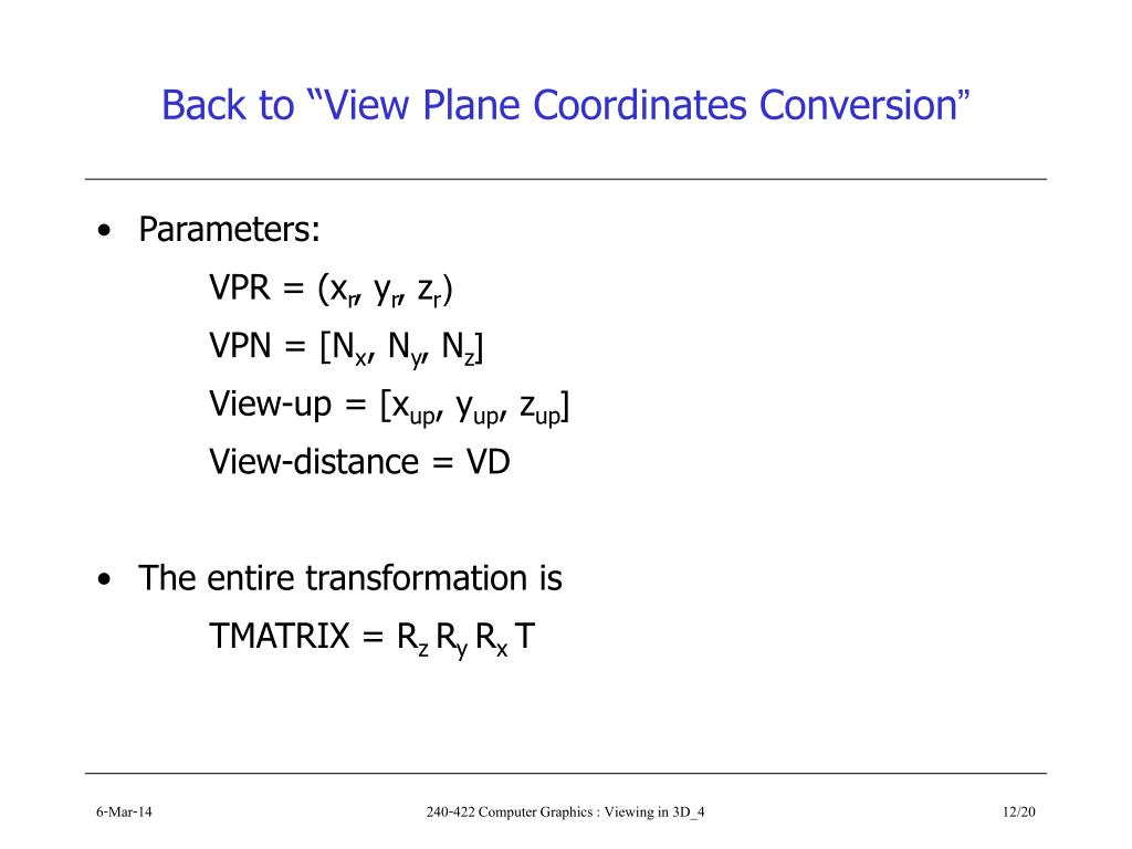 "Back to ""View Plane Coordinates Conversion"""
