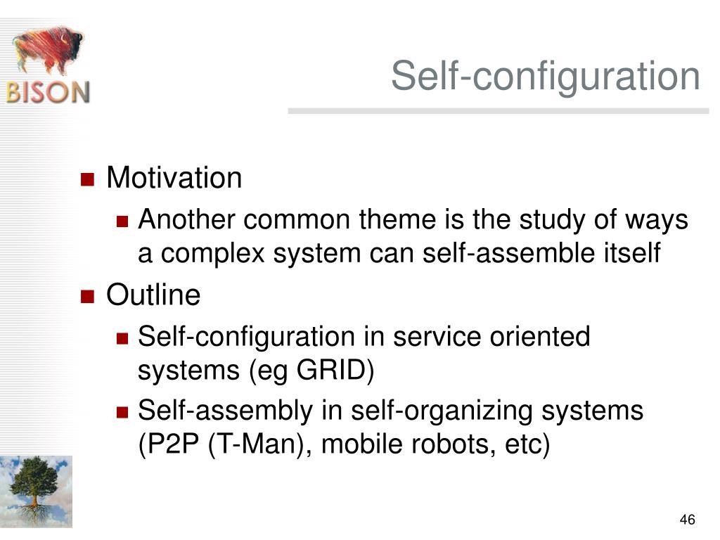 Self-configuration