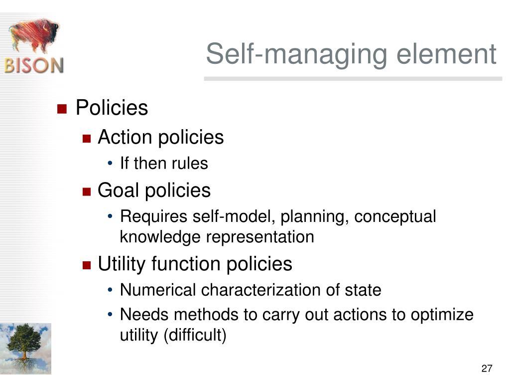 Self-managing element