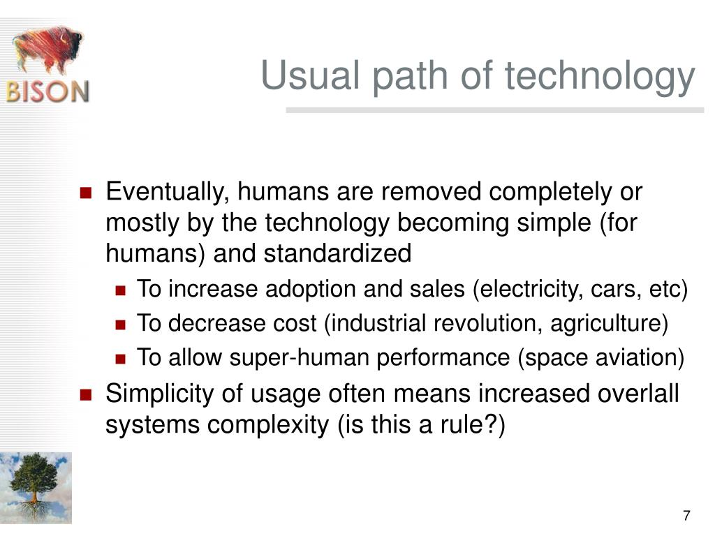 Usual path of technology