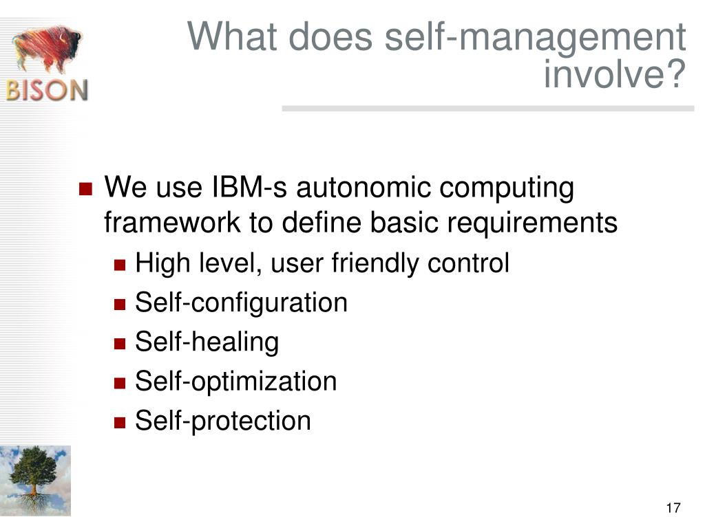 What does self-management involve?