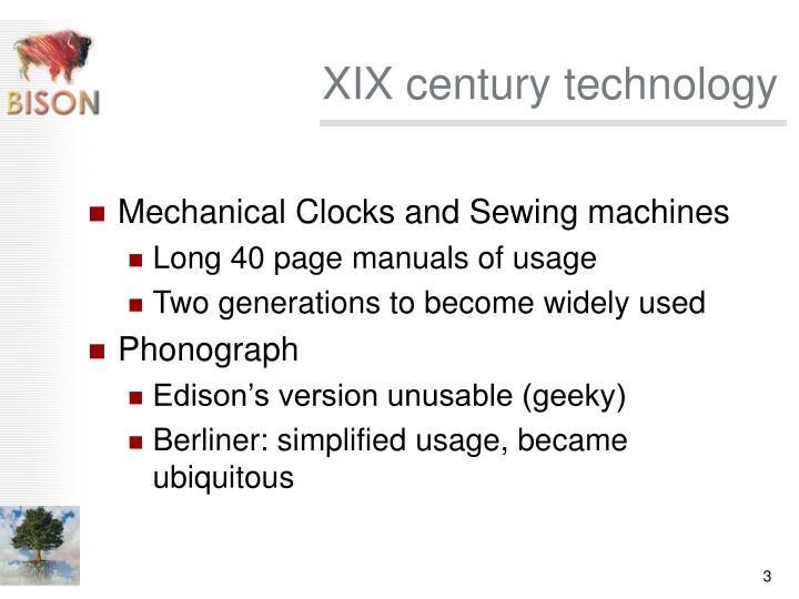 Xix century technology