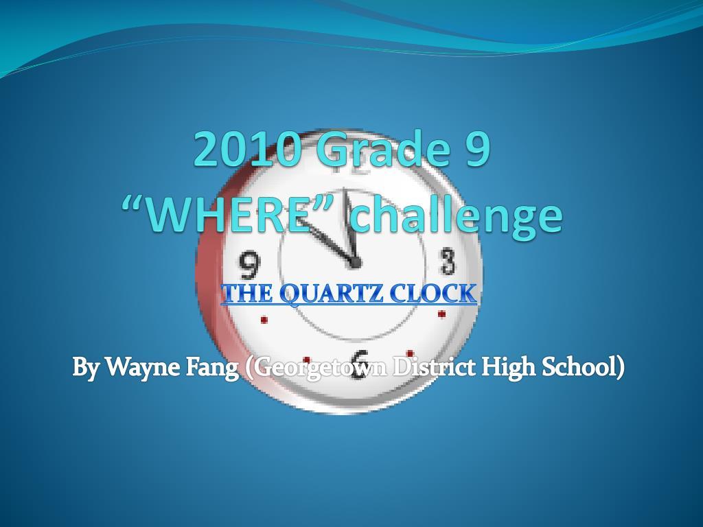 2010 grade 9 where challenge l.