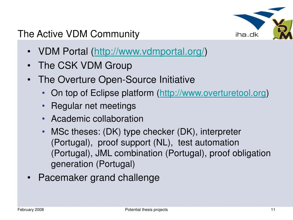 The Active VDM Community