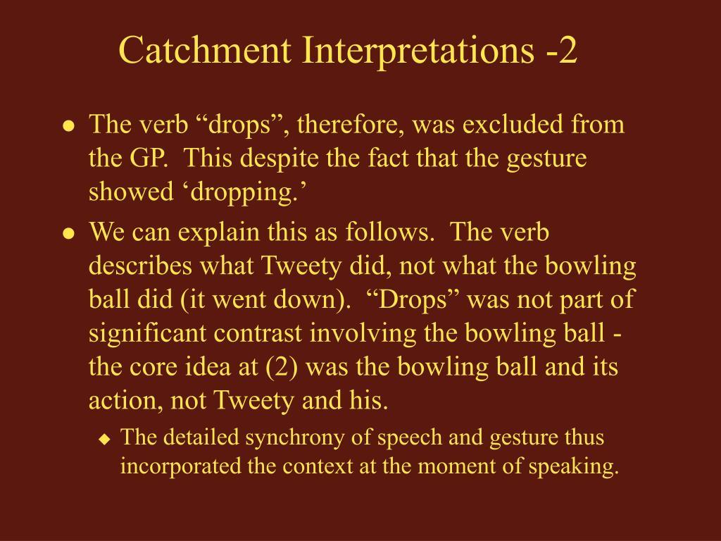 Catchment Interpretations -2