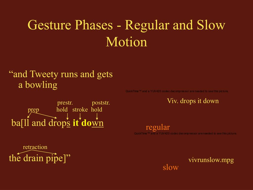 Gesture Phases - Regular and Slow Motion