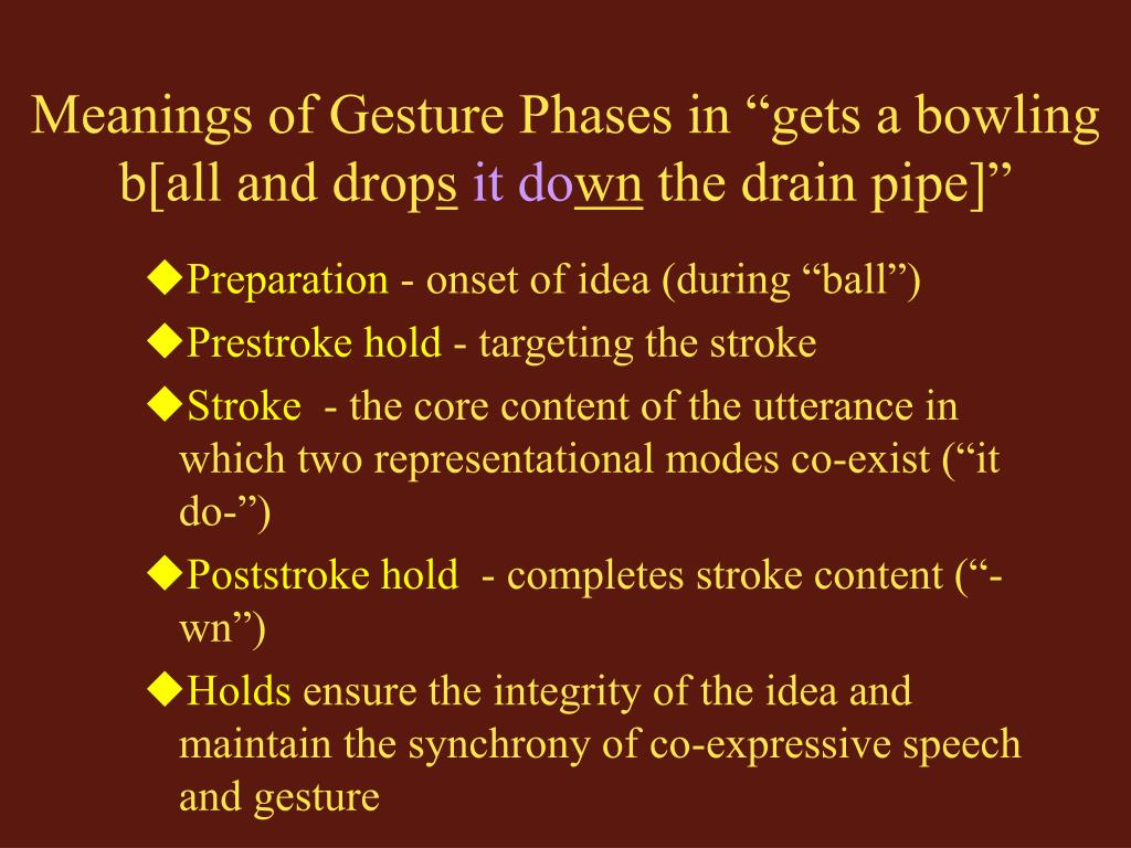 Meanings of Gesture Phases in