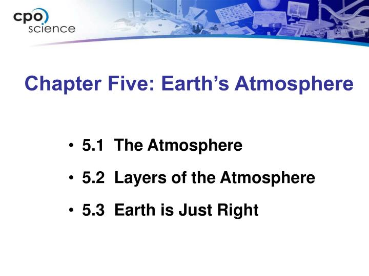chapter five earth s atmosphere n.