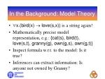 in the background model theory