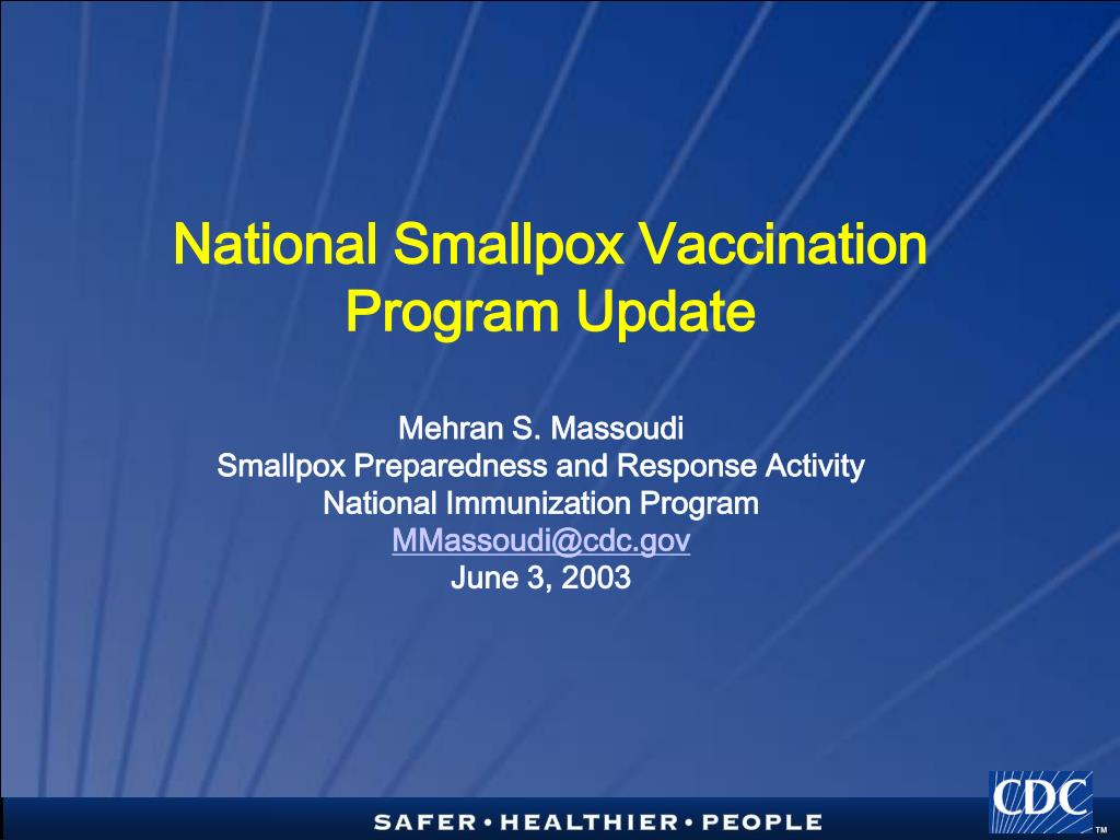national smallpox vaccination program update l.