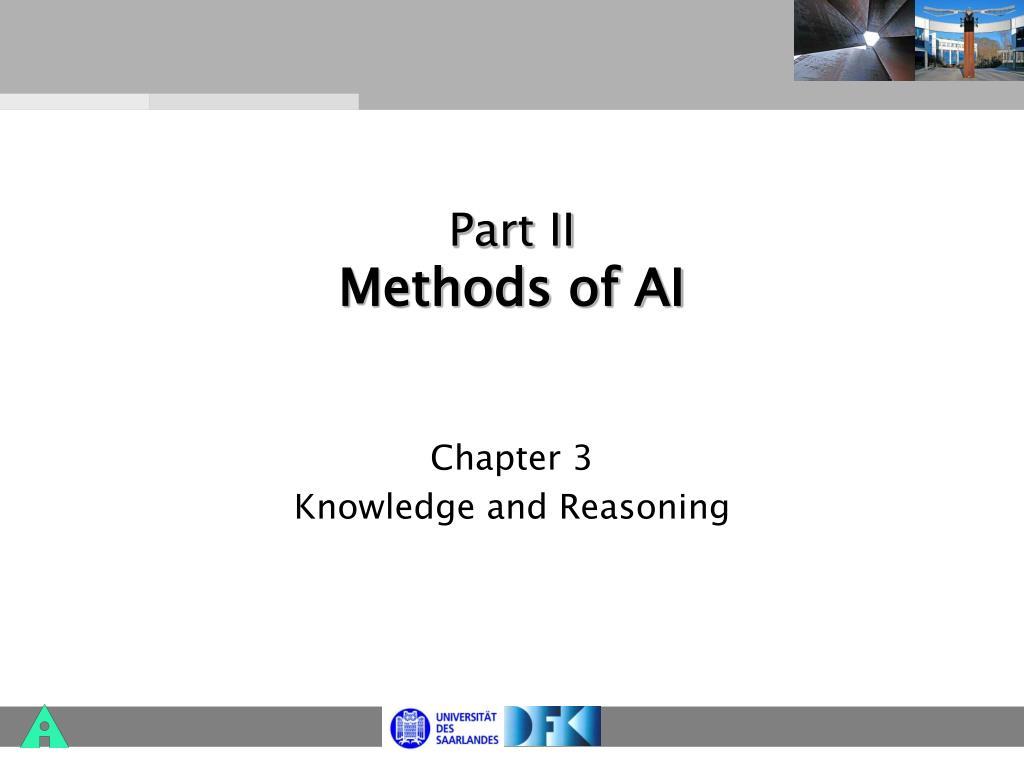 part ii methods of ai l.