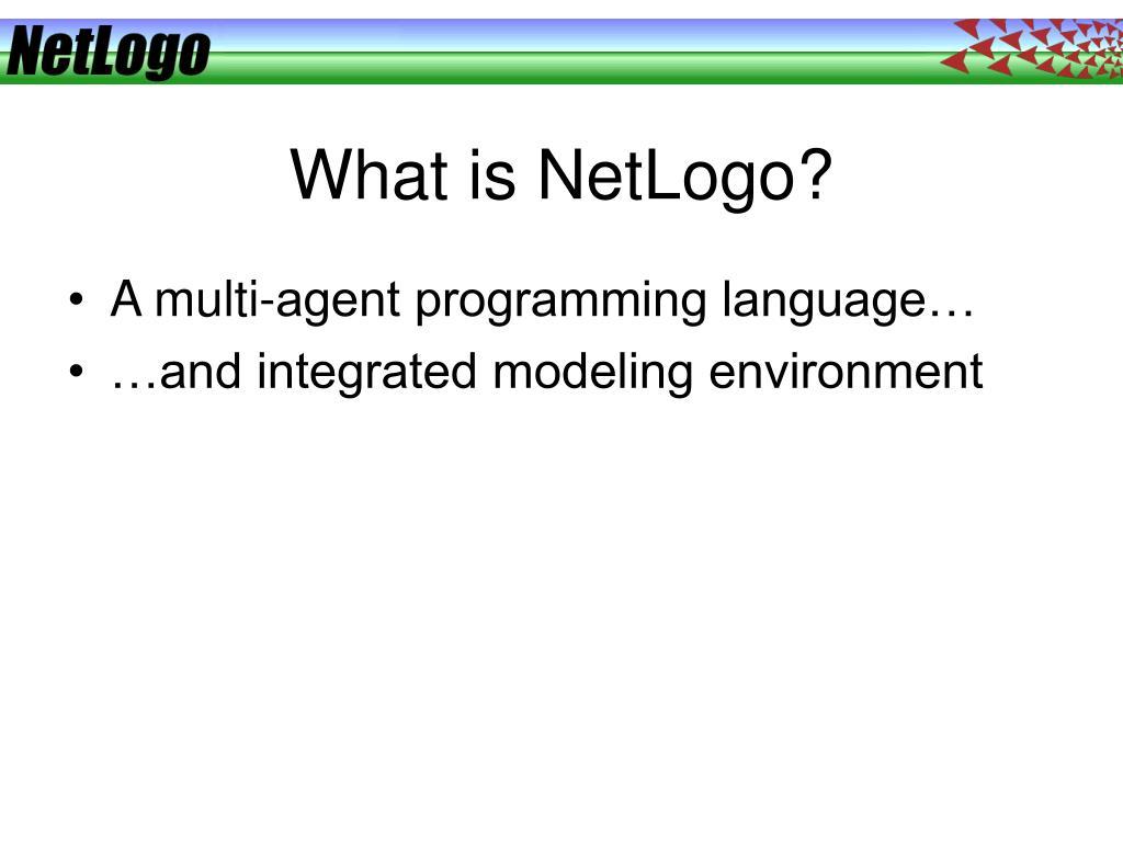 What is NetLogo?