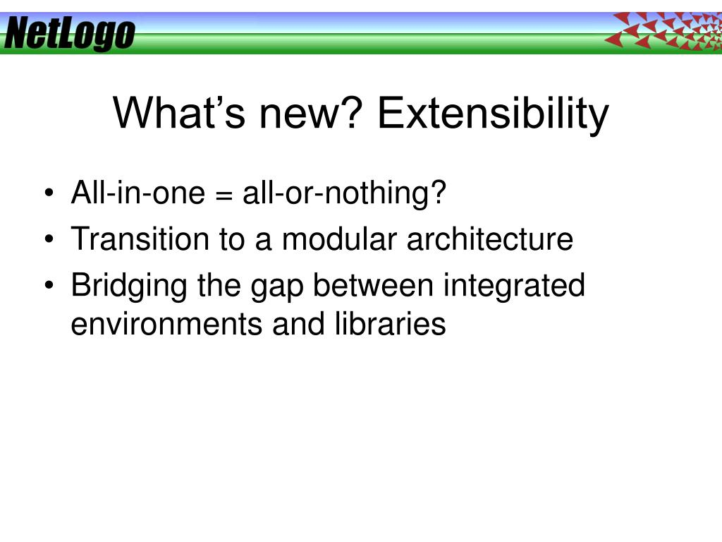What's new? Extensibility