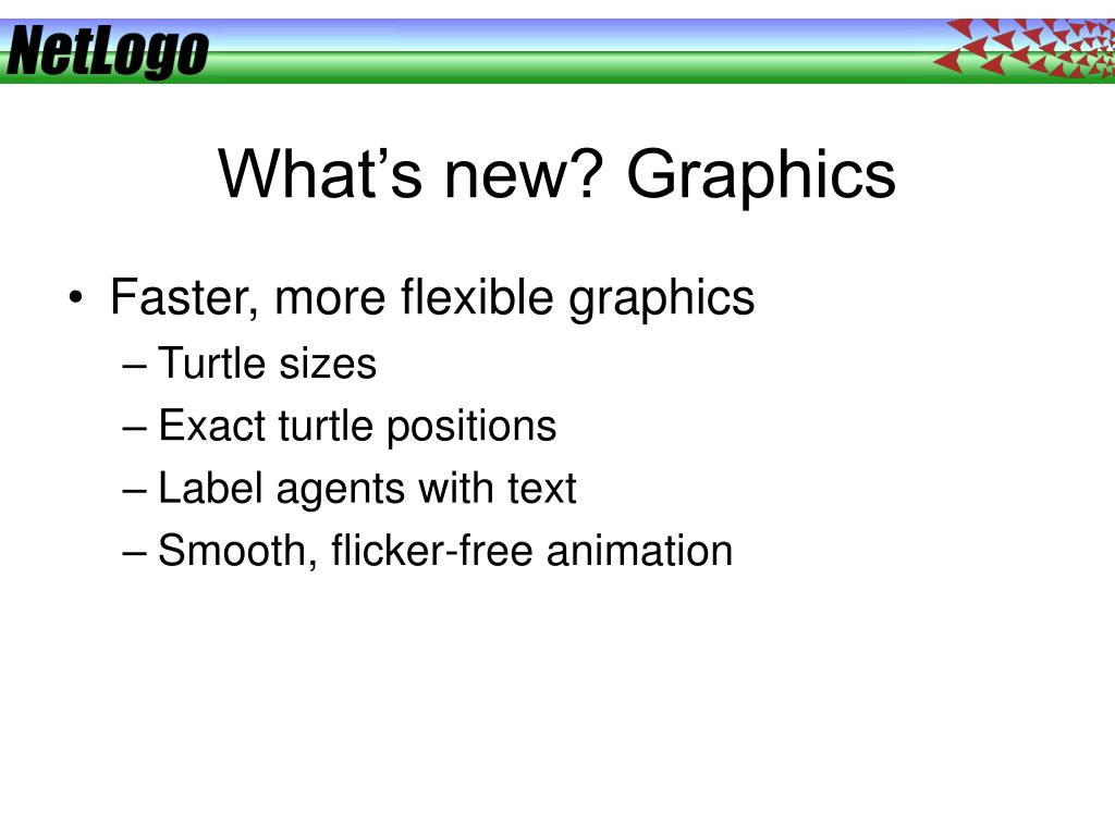 What's new? Graphics