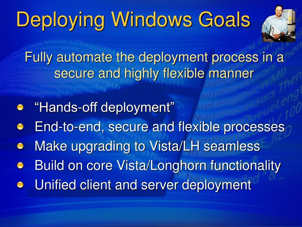 Deploying Windows Goals