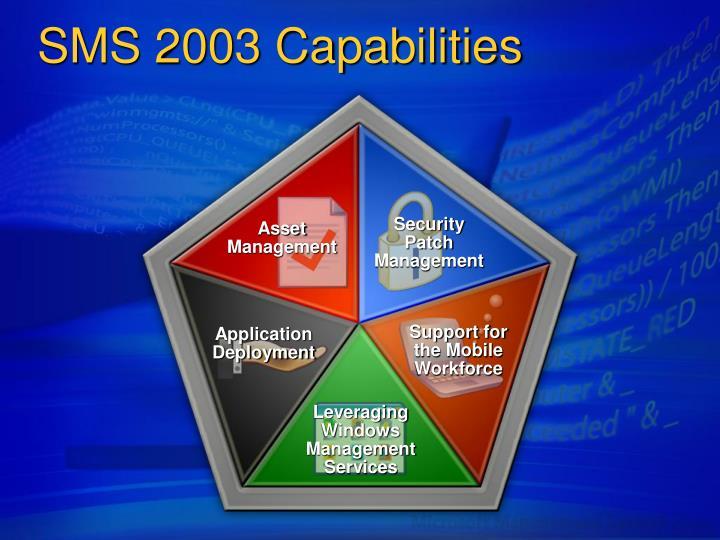 Sms 2003 capabilities