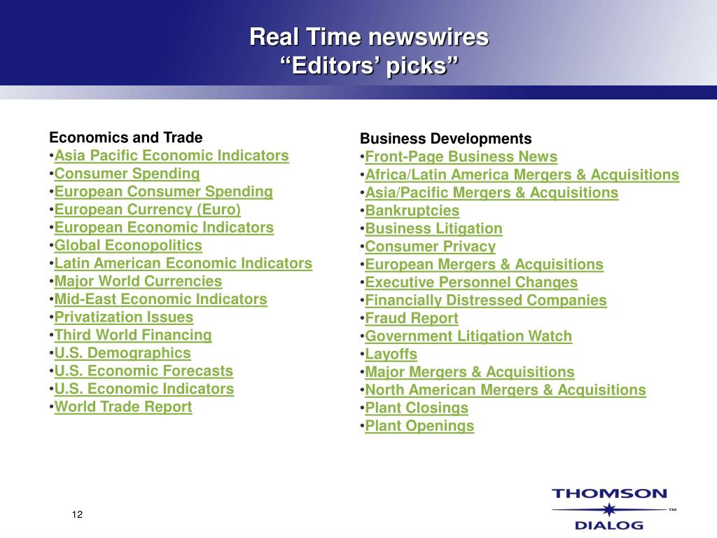 Real Time newswires