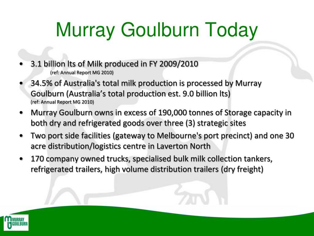 Murray Goulburn Today